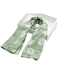 Enfants Tournesol Imprimé Écharpe Chaude Foulard en Coton Hiver Beau Cadeau Vert