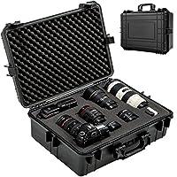 TecTake 402412 Camera Hard Case With 35 Litres Volume, Universal, Waterproof, Black