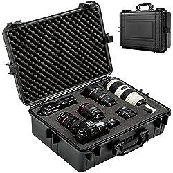 TecTake Valise Photo avec Volume 35 litres env. 4 Insert Mousse Protection Photographie caméra Accessoire Noir