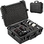 TecTake Fotokoffer Kamerakoffer Hardcase Koffer mit 35 Liter Volumen wasserdicht inkl. 4 Schaumstoffeinlagen schwarz