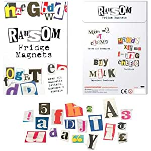 Fun Ransom Magnetic  Noticeboard Fridge Magnets - 200 pieces