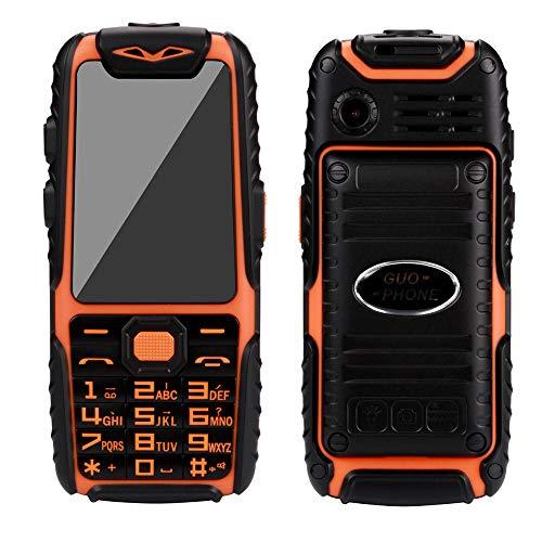 Guophone A6 wasserdichte Telefon lange Standby-Handy-Kamera ohne vertrag outdoor klein gps senioren günstig neu, doro große tasten seniorenhandy gross für whatsapp buch (Orange)