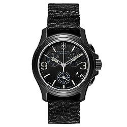 Victorinox Swiss Army Original Chronograph Black Nylon Mens Watch 241534