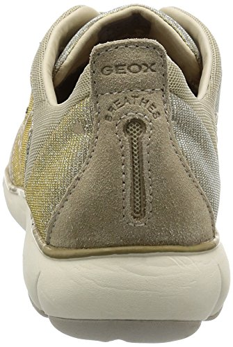 Geox D Nebula G, Sneakers Basses Femme Beige (Lead/Lt Taupec9Hh6)