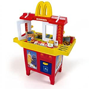 mcdonalds drive in play kitchen for children with 30 parts supplies ca 90 x 69 x 33 5 cm amazon. Black Bedroom Furniture Sets. Home Design Ideas
