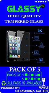 GE-332 Glassy (Pack Of 5) laminated safety Tempered Glass Screen Protector For Meizu MX 4-Core