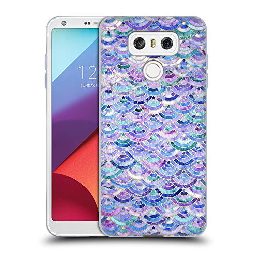 Offizielle Micklyn Le Feuvre Mosaik Und Amethyst Und Lapislazuli Marmor Muster Soft Gel Hülle für LG G6 / G6 Dual