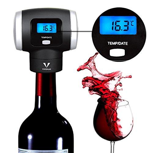 Wine Saver Vakuumpumpe mit Thermometer Display für Wein wertvolle Automatische Intelligente Wein Zubehör