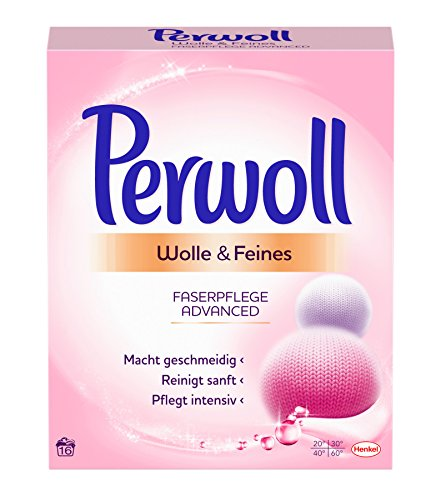 Perwoll Wolle & Feines Faserpflege Advanced Pulver, 5er Pack (5 x 16 Waschladungen)