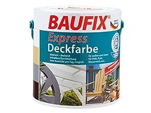 Baufix Express Deck couleur Meubles Vernis Clôture 2,5l Sable Couleur beize décaper Lasure Plâtre maçonnerie laques bois durs bois bois bois vernis vernis Couleurs bois vernis