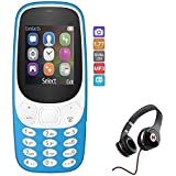 Raptas A3310 Dual Sim Mobile With Money Detector And Camera Fully Multimedia Phone & Mega Bass Wired Headphones With Excellent Sound Quality Compatible With Xiaomi,Samsung,Sony,OnePlus 1/2/3/3T/5 ,Iphone And Other Smart Phones
