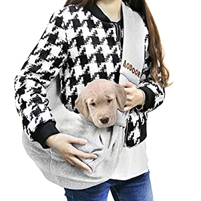 Aodoor Reversible Pet Sling Carrier Hands-free Sling Pet Dog Cat Carrier Bag Soft Comfortable Puppy Kitty Rabbit Double-sided Pouch Shoulder Carry Tote Handbag