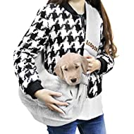 Aodoor Reversible Pet Sling Carrier Hands-free Sling Pet Dog Cat Carrier Bag Soft Comfortable Puppy Kitty Rabbit Double-sided Pouch Shoulder Carry