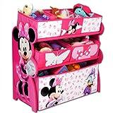 Spielzeugregal - Standregal - Aufbewahrungsregal 6 Boxen mit Motivauswahl (Minnie Mouse)