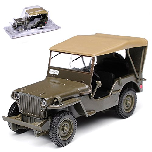 1/4 TON Army Truck Grün Jeep Willys USA Army 2. Weltkrieg mit Dach 1/43 Modellcarsonline Modell - Truck Usa