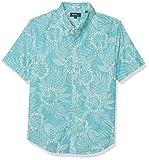 Reyn Spooner Herren Spooner Kloth Tailored Fit Hawaiian Shirt Button Down Hemd, Diamond Lei - Aqua Sea, Groß