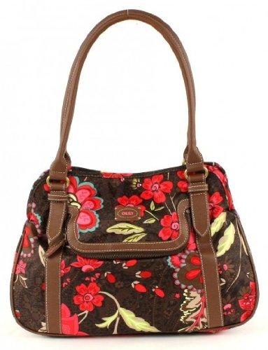 Oilily Paisley Flower M Carry All Braun Damen Handtasche Tasche Henkeltasche