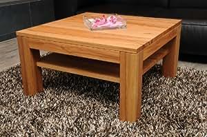 couchtisch kernbuche 80x80 cm zarge b ndig mit ablage echtholz massivholz h he 42 cm. Black Bedroom Furniture Sets. Home Design Ideas