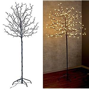 Lunartec LED Baum Outdoor: LED-Deko-Baum mit 200 beleuchteten Knospen, 150 cm, drinnen & draußen (Leuchtbaum)