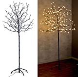 Lunartec LED Lichterbaum: LED-Deko-Baum mit 200 Beleuchteten Knospen, 150 cm, drinnen & draußen (LED Kirschbaum)