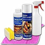 BACKOFEN- & GRILL-SET (7034) - 1x 500 ml EASY GRILL & BAKE Backtrennmittel + 1x 500 ml DESTINE Backofenreiniger + 1x 750 ml Handsprühflasche mit Sprühkopf + uvm. + Zubehör - ABACUS