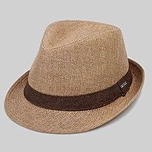 Sombrero de copa británico de primavera y otoño de color marrón Hombre al aire libre Sombreros de gran tamaño para hombres Sombrero de jazz Protección solar ...