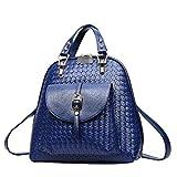 Weave Casuale Femminile Del Sacchetto Selvaggio Temperamental Messenger Tote Bags Multicolore,Blue-OneSize