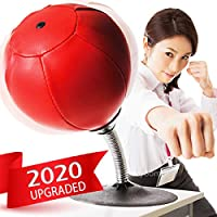 Desktop Boxing Speed Ball Stainless Steel Training Hit Ball for Workout Training Fitness Stress Relief VGEBY Desktop Punch Bag