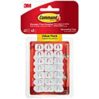 Command Decoration Clips for Christmas and Fairy Light - White, Value Pack
