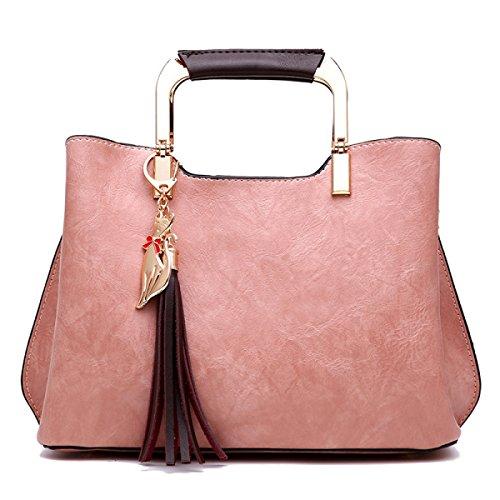 FZHLY Versione Coreana Della Borsa A Tracolla Della Borsa A Tracolla Di Grandi Dimensioni Della Borsa A Tracolla,Pink Pink