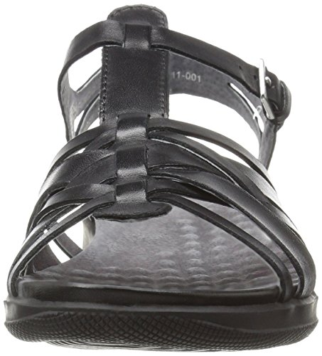 Softwalk Taft étroit Cuir Sandales Gladiateur Black
