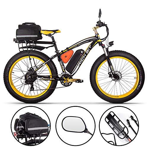 RICH BIT Bicicleta eléctrica Hombres E-Bike Fat Snow