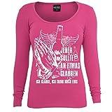 Frauen und Damen Langarm Shirt Ich glaube ich trink noch eins