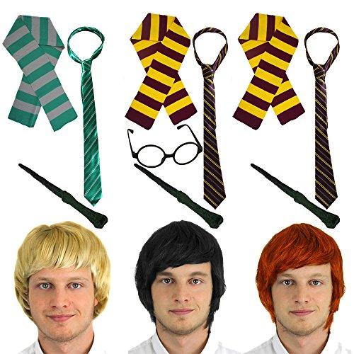 Erwachsene Schüler Wizard Zubehör-Set ideal für Schule Woche und Welt Buch Tag oder jeden Fancy Kleid - Gryffindor Schüler Kostüm