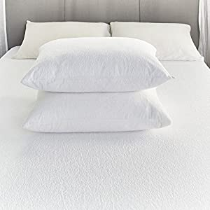"Comfortnights""RTM"" Terry Towelling Waterproof Zipped pillow protector 50x70cms"