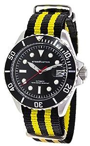 Steel Master Diver - Reloj de automático para hombre, con correa de nailon, color amarillo de Steel Master