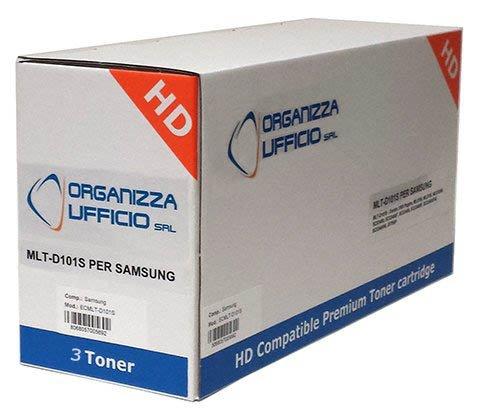Organizza Ufficio 3 Toner O-Mlt-d101s per ML-2160, ML-2162, ML-2165, ML-2165W, SCX-3400-F, SCX-3405-F-FW-W SF-760-P, 1500 Pagine