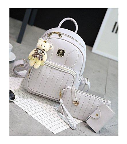 Keshi Pu Cool Damen accessories hohe Qualität Einfache Tasche Schultertasche Freizeitrucksack Tasche Rucksäcke Grau