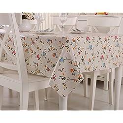 Vinylla - Mantel para mesa (PVC, fácil limpieza), diseño de rosas inglesas - 140x180cm