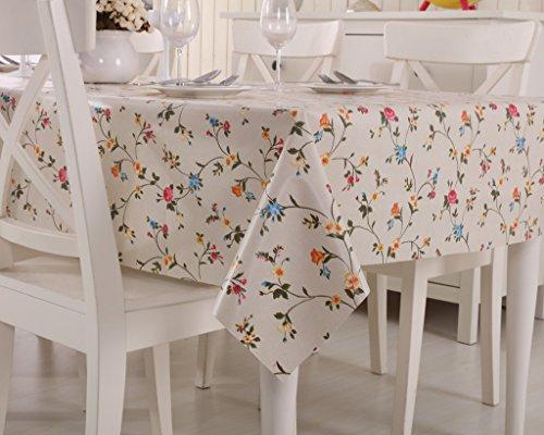 Vinylla - Mantel para mesa (PVC, fácil limpieza), diseño de rosas inglesas...