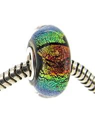 Plata de Ley 925Rainbow–Juego de cristal Bead para pulseras