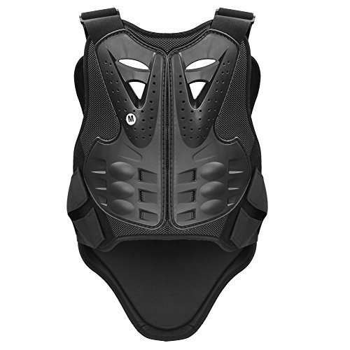 Pellor Rennsport Westen Wirbelsäule Brustpanzer Schutzausrüstung Radfahren Motorrad WesteSkifahren Reiten Skateboarding Brust Rücken Beschützer Anti-Fall Gear (Schwarz-M)
