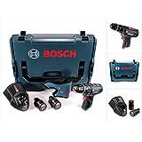 Bosch GSB 12V-15 Professional Akku Schlagbohrschrauber in L-Boxx + 2 x GBA 12 V 2,5 Ah Akku + 1 x GAL 1230 Ladegerät