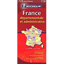 Carte NATIONAL France Dpartementale et Administrative