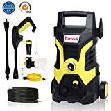 Pressure Washer,1500W,105 Bar Patio Cleaner Portable High Pressure Power Washer with Accessories Jet