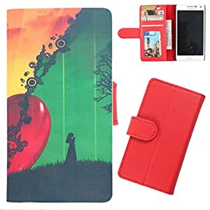 DooDa - For Micromax Canvas Spark PU Leather Designer Fashionable Fancy Wallet Flip Case Cover Pouch With Card, ID & Cash Slots And Smooth Inner Velvet With Strong Magnetic Lock