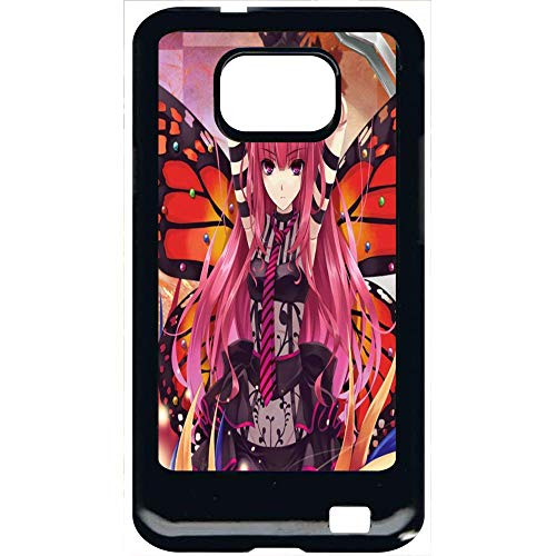 Coque samsung galaxy s2 fille manga rose