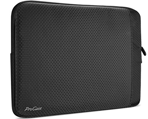 MacBook Air 13 Hülle, ProCase Schutzhülle Tasche Tasche für 13-13,5 Zoll MacBook Air (Modell A1369 & A1466) / MacBook Pro Retina 2012-2015 und Surface Laptop 2017 - Schwarz