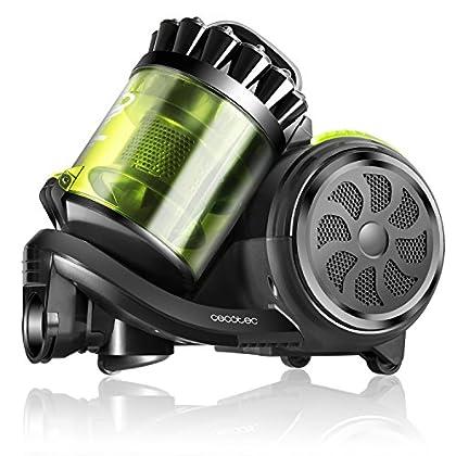 Cecotec Aspirador Trineo Conga Powerciclonic. Aspirador sin Bolsa Potente. Tecnología multiciclónica. Filtro HEPA. Ligero y Compacto. Silencioso. Accesorio 2en1.