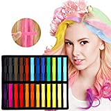 Kyerivs Haar Kreide Temporäre Haarfarbe 24 Farben Nontoxic Instant Einmalige mit Handschuhe und Scha funktioniert auf allen Haarfarben